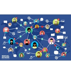Social Networks vector image