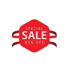 Special sale 40 off template design vector