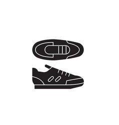 sport sneakers black concept icon sport vector image