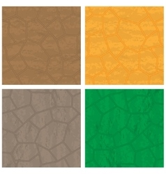 Stone textures set vector image
