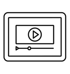 tablet online learning icon outline style vector image