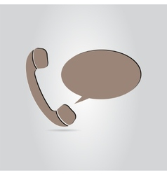 The Handset of the Phone as a Button vector image vector image
