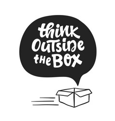 Think outside box concept vector