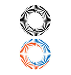 Two abstract spirals vector