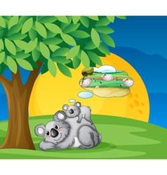 white bears vector image