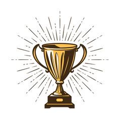 winner s trophy award win winning champion vector image