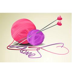 Wool heart vector