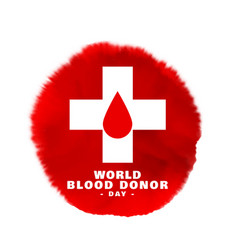 World blood donor day poster for creating vector