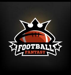 american football fantasy logo vector image