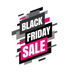 Mega sale banner Black and pink colors vector image vector image