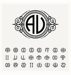 modern emblem badge template luxury elegant vector image vector image