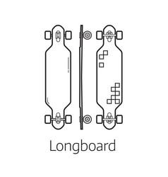 modern long board desk set vector image vector image