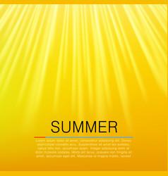 warm yellow sun beam summer concept vector image