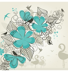 Paradise of birds vector image vector image