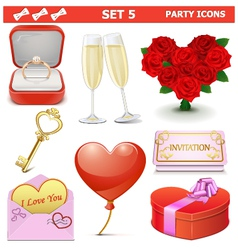 Party Icons Set 5 vector image