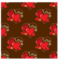 seamless hearts pattern vector image vector image