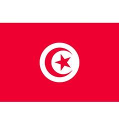 tunisian flag vector image
