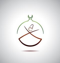 Turkish dervish vector image