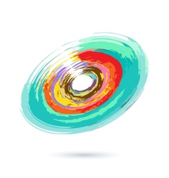 Watercolor Abstract Object vector image