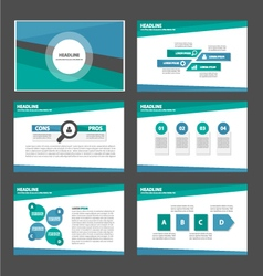 Green and blue presentation templates Infographic vector image vector image