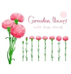 Realistic flowers set vector image