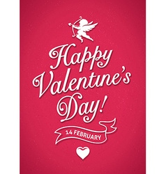 Valentines day poster vector