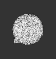 white hand drawn speech bubble template vector image