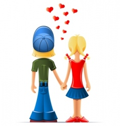 boy and girl lovers vector image vector image