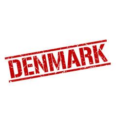 Denmark red square stamp vector