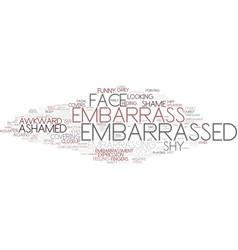 Embarrass word cloud concept vector