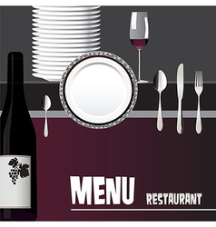 Menu for restaurant design vector image