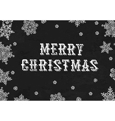 Merry Christmas Greeting On blackboard texture vector image