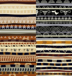 Set of tribal primitive african pattern vector image