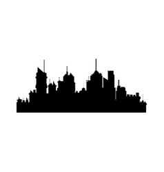 silhouette of city skyline building architecture vector image
