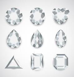 white gem vector image vector image