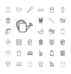 33 bucket icons vector