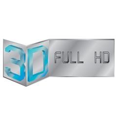 3D full hd logo vector