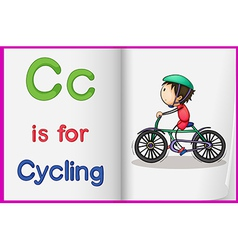 A picture of cycling in book vector