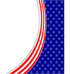 American flag symbol background frame vector