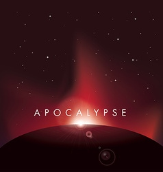 Apocalypse poster from satellite view vector