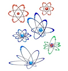 atom collection vector image vector image
