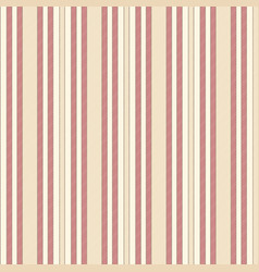 Beige red striped fabric texture seamless pattern vector