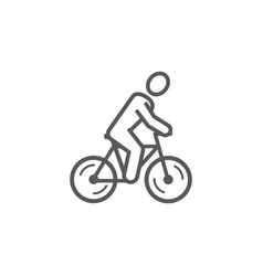 bicycle line icon on white background vector image