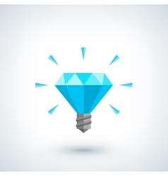 Brilliant idea concept Light bulb polygonal vector
