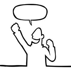 cartoon person cheering vector image