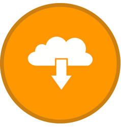 cloud download glyph multi color background vector image