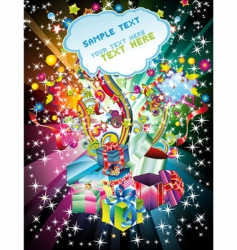 colorful christmas gift background vector image