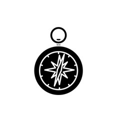 compass black icon sign on isolated vector image