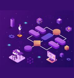 Concept block scheme creation or modular vector