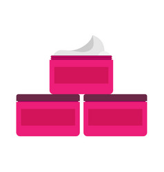 cream hand tube box cosmetic face packaging vector image